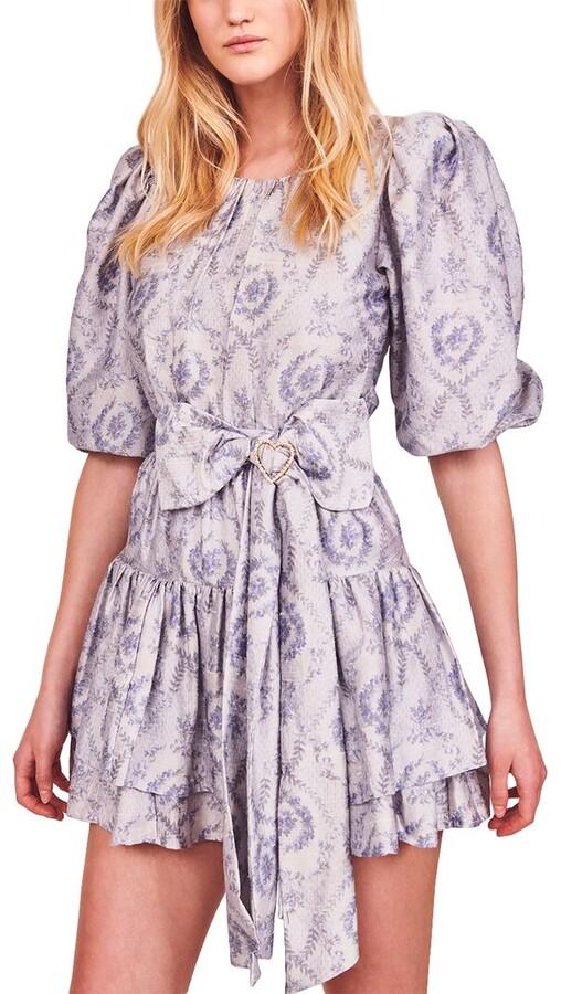 LoveShackFancy Pearla Silk Mini Dress