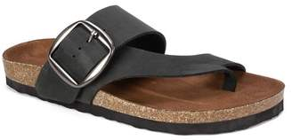 White Mountain Footwear Harley Buckled Footbed Sandal