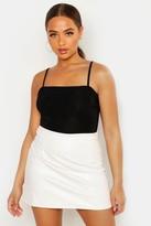 Boohoo Luna Faux Leather A Line Mini Skirt