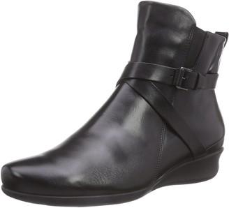 Ecco Women's Abelone Buckle Strap Boots Black (black) 3 UK