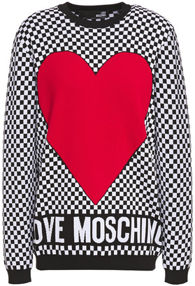 Love Moschino Checked Jacquard-knit Sweater