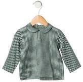 Papo d'Anjo Girls' Gingham Print Long Sleeve Top w/ Tags