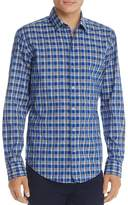BOSS Robbie Long Sleeve Blue Plaid Button-Down Shirt