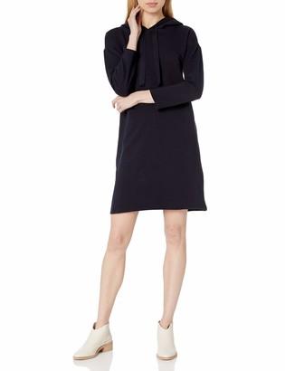 Daily Ritual Amazon Brand Women's Terry Cotton and Modal Bracelet-Sleeve Sweatshirt Dress