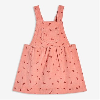 Joe Fresh Baby Girls' Print Corduroy Pinafore, Dusty Red (Size 3-6)