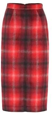 N°21 Plaid pencil skirt