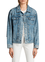 AllSaints Ina Denim Jacket, Indigo Blue