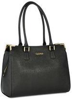 Calvin Klein Saffiano Leather Satchel Bag