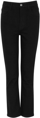 Current/Elliott The Original Black Slim-leg Jeans