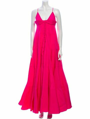 Jacquemus V-Neck Long Dress w/ Tags Pink