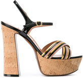 L'Autre Chose platform sandals - women - Leather/Patent Leather - 37