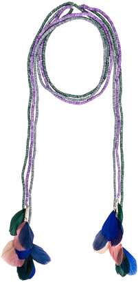 Isabel Marant Echarpe Necklace in Lilac | FWRD