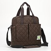 AGVA Convertible Diaper Bag / Backpack / Tote / Cross Body Quilted Bag