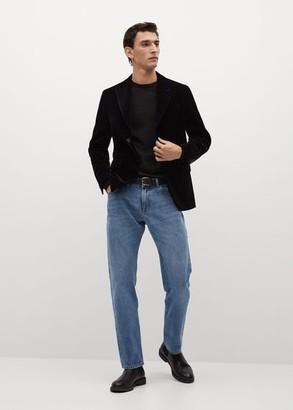 MANGO Slim fit velvet suit blazer