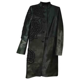 Brioni Green Leather Coat for Women