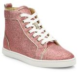 Christian Louboutin Bip Bip Glitter High-Top Sneakers