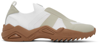 Maison Margiela White and Beige Retro-Fit Replica Sneakers