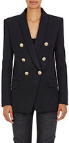 Balmain Women's Wool Double-Breasted Blazer-BLACK