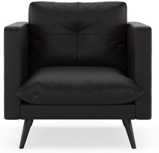 Omorfo Armchair Latitude Run Fabric: Ivory, Leg Color: Black