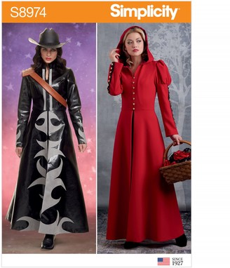 Simplicity Women's Costume Maxi Coat Sewing Pattern, 8974