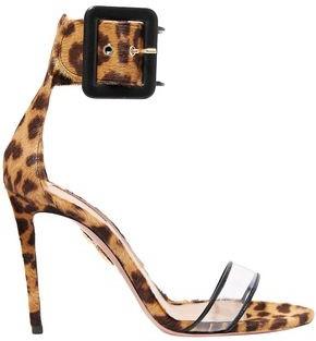 Aquazzura Seduction Pvc And Leopard-print Calf Hair Sandals