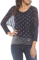 M Made in Italy Dot Print Layered Tunic