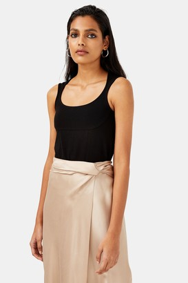 Topshop Black Shaped Neck Bodysuit