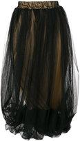 Nostra Santissima draped tulle overlay skirt
