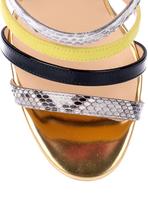 Christian Louboutin Mariniere python strappy sandal