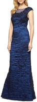 Alex Evenings Women's Embellished Illusion Shirred Gown