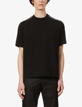 Prada Striped cotton-blend T-shirt