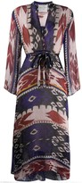 Forte Forte abstract print tie dress