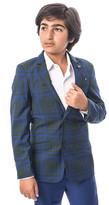 Hunter Elie Balleh Boys' Blazers  & Blue Plaid Suit Jacket - Toddler & Boys