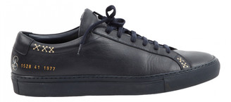 Common Projects Navy Leather Trainers
