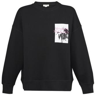 Alexander McQueen Flora round neck sweatshirt