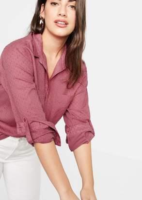 MANGO Swiss tulle shirt