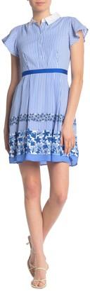 Draper James Willow Wick Floral Striped Dress