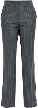 Piazza Sempione Pinstriped Twill Straight-leg Pants