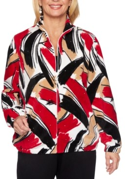 Alfred Dunner Classics Printed Fleece Jacket