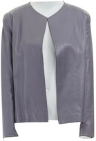 Donna Karan Grey Leather Jackets