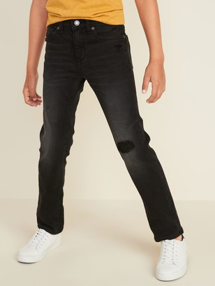 Old Navy Karate Distressed Built-In Tough Black Jeans for Boys
