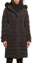 Lauren Ralph Lauren Faux Fur-Trim Quilted Coat