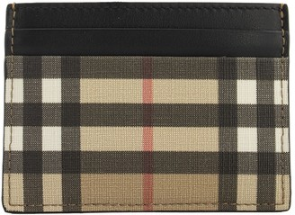 Burberry Sandon Vintage Check E-canvas And Leather Card Case