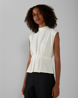 Club Monaco Pleated Waist Top