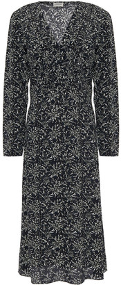 By Malene Birger Printed Crepe De Chine Midi Dress