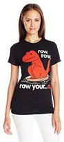 Goodie Two Sleeves Juniors Dinasour Row Row Graphic Tee
