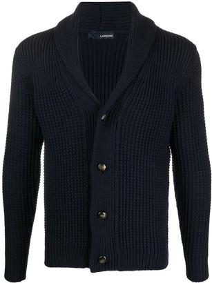 Lardini Waffle-Knit Button-Up Cardigan