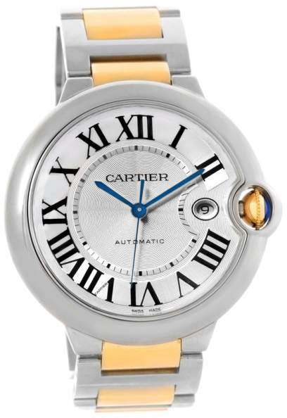 Cartier Ballon Bleu W69009Z3 Stainless Steel & 18K Yellow Gold Automatic 42.1mm Mens Watch