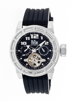 Reign Rothschild Collection REIRN1302 Men's Stainless Steel Watch with Silicone Strap