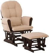 Coaster Stork Craft Hoop Glider Chair & Ottoman Set